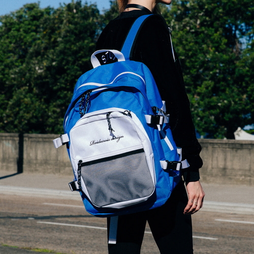 OH OOPS BACKPACK (BLUE/WHITE)