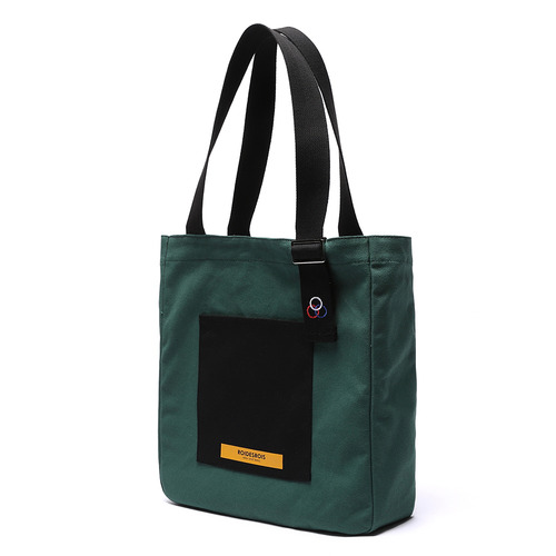COLOR BLOCK SHOULDER BAG (GREEN)