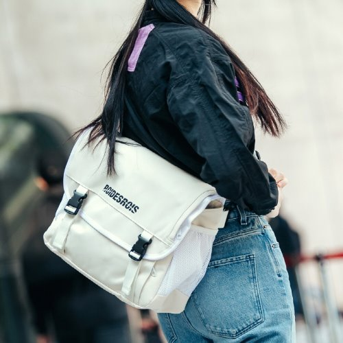 SIGNATURE LOGO MESSENGER BAG (IVORY)