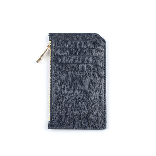 SLIM LEATHER CARD WALLET (NAVY)
