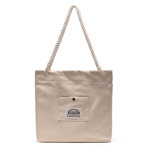 ROPE COTTON ECO BAG (BEIGE)